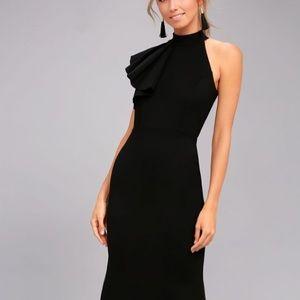 Lulus Margaux Black One-Shoulder Maxi Dress